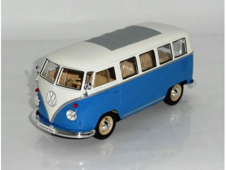 Volkswagen T1 1962 Kombi blauw-wit 1:24