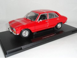 Peugeot 504 Sedan 1969 Wit. Welly 1:24